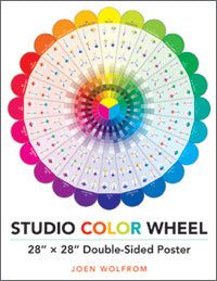 studio color wheel poster