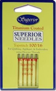 superior titanium topstitch 100 16 needles