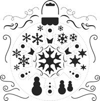 snowflake crafters workshop template stencil