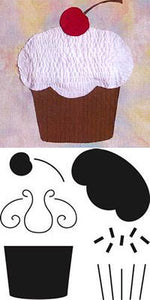 cupcake crafters workshop quilting applique template stencil