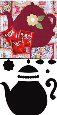 teapot crafters workshop quilting applique template stencil