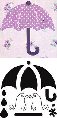 umbrella crafters workshop template stencil