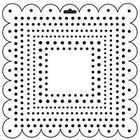 square dots crafters workshop template stencil