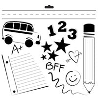 back to school crafters workshop template stencil