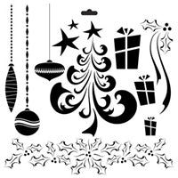 merry crafters workshop template stencil