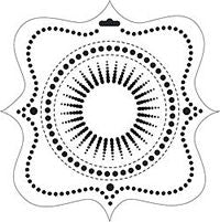 pansy crafters workshop template stencil