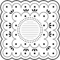 dotted scallop crafters workshop template stencil