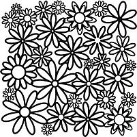 daisy cluster crafters workshop template stencil