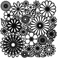 flower frenzy crafters workshop template stencil