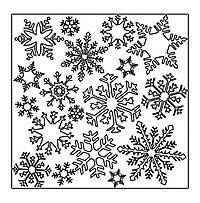 flurries crafters workshop template stencil
