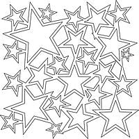 star shower crafters workshop template stencil