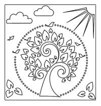 festive peace crafters workshop template stencil