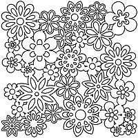 gathered flowers crafters workshop template stencil