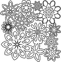 flower shower crafters workshop template stencil