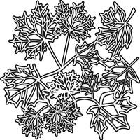 maple leaves crafters workshop template stencil