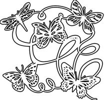 butterfly ballet crafters workshop template stencil