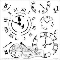 time travel crafters workshop template stencil