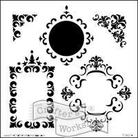 fancy frames crafters workshop template stencil