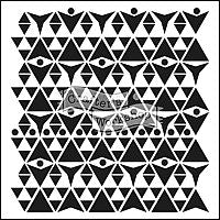 triangle plaid crafters workshop template stencil
