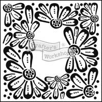 flower frame crafters workshop template stencil