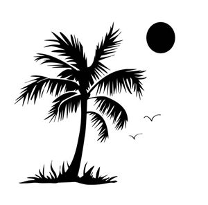 palm tree crafters workshop template stencil