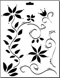 floral vines crafters workshop template stencil