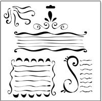 swirly lines crafters workshop template stencil