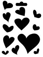 mini hearts crafters workshop template stencil
