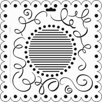 scallop swirls crafters workshop template stencil
