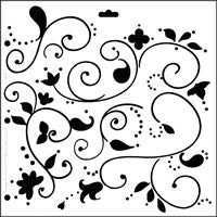 doodle flower crafters workshop template stencil