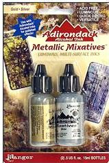 gold silver adirondack alcohol ink set