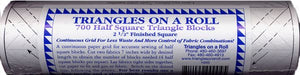 Triangles on a Roll, Half Square Triangle Blocks, Finished Sizes: 1 in. to 6 in.