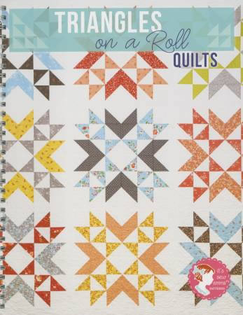 Triangles On A Roll Quilts Book, from It's Sew Emma