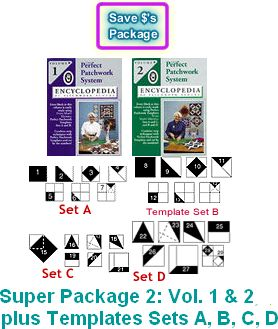 marti michell perfect patchwork system package 2 books templates a b c d