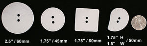 DB023 White Concave Nesting Buttons,  mfg. Dill Buttons