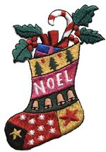 noel christmas stock thread applique