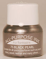 all purpose ink tsukineko ink 75 black pearl ink