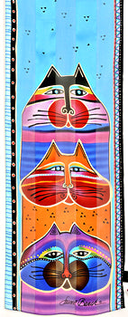 fat cats scarf laurel burch