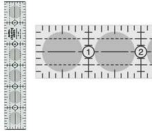creative grids ruler 1 inx6 in