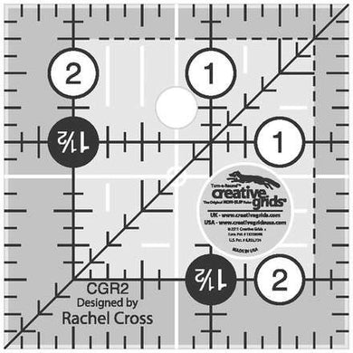 creative grids ruler 2.5 in square