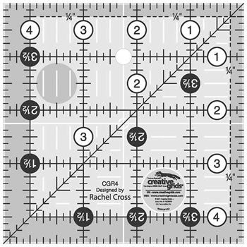 creative grids ruler 4.5 square