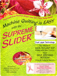 supreme slider for machine quilting