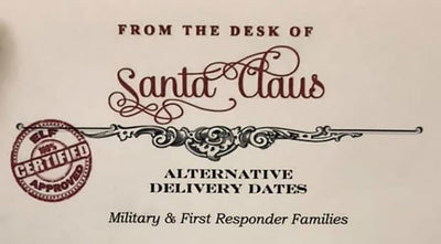 Military and First Responder Families Can Get Alternate Santa Delivery Dates