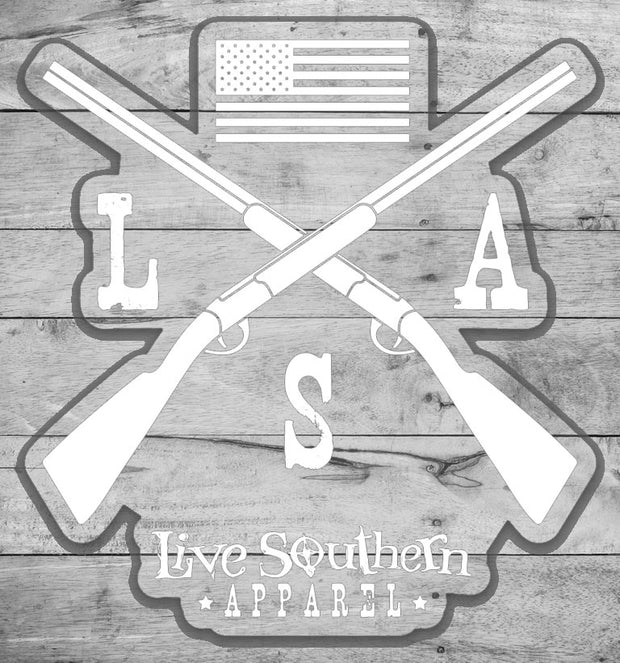 "4"" Cross Rifle LSA Sticker"