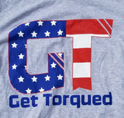Patriotic Get Torqued Lt Gray Short Sleeve