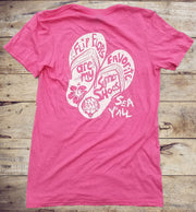 Flip Flop Summer Shoes Pink Short Sleeve