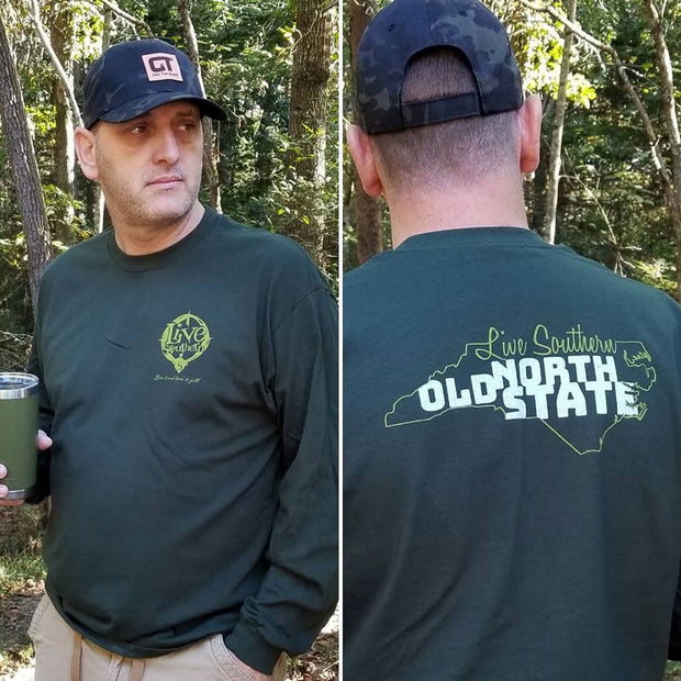 Old North State Forest Green Long Sleeve