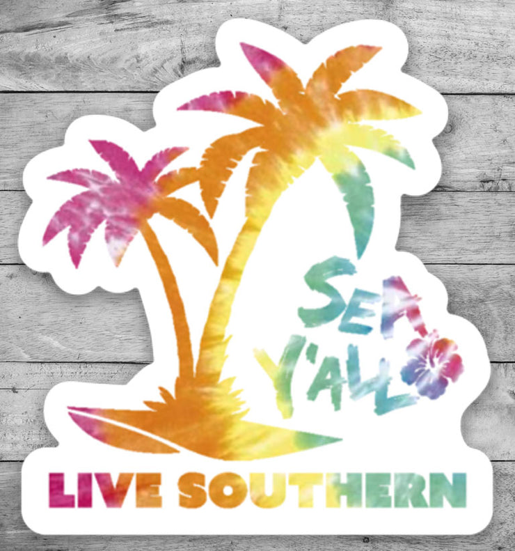 "2"" Sea Y'all Palm Tree Sticker"