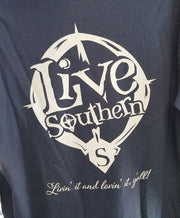 Live Southern Compass Navy Blue Long sleeve