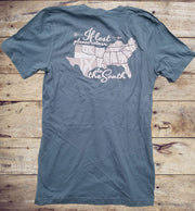 Southern States Blue V-Neck Short Sleeve